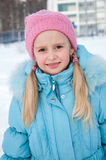 Portrait of a girl in winter clothes Royalty Free Stock Photos