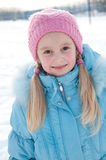 Portrait of a girl in winter clothes Stock Image
