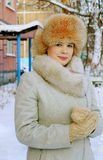 Portrait of a girl in winter day Royalty Free Stock Photo