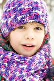 Portrait of girl in winter park Royalty Free Stock Photography