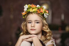 Portrait of a girl with a wreath Royalty Free Stock Images