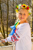 Portrait of a girl in a wreath Royalty Free Stock Image