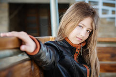 Portrait of a girl 13 years Royalty Free Stock Photography