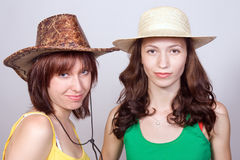 Portrait of girlfriends Royalty Free Stock Photography