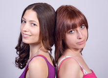 Portrait of girlfriends Royalty Free Stock Images