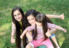 Portrait of girls. Portrait of beautiful young girls Stock Photography