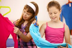 Portrait of girls with clothes Royalty Free Stock Photo