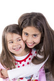 Portrait girls. Happy girls smiling for portrait Royalty Free Stock Images