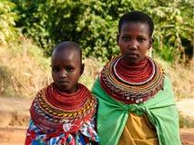 Portrait of the girls from the Samburu tribe in Kenya Royalty Free Stock Photos