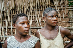 Portrait of a girls from a tribe of Baka pygmies. Stock Images