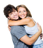 Portrait glücklichen Leute lizenzfreie stockfotografie