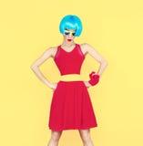 Portrait of a glamorous fashion lady Stock Photo