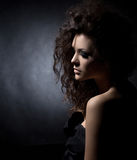 Portrait of a glamorous girl Royalty Free Stock Images