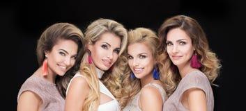 Portrait of glamorous ladies. royalty free stock photography