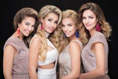 Portrait of glamorous ladies. royalty free stock photos