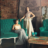 Portrait of Glamorous Models. Lady in Premium Dress Stock Image