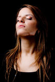 Portrait of glamorous woman with closed eyes Royalty Free Stock Images