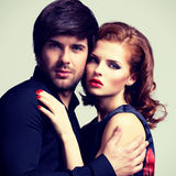 Portrait of glamour sexy couple in love. Royalty Free Stock Photos