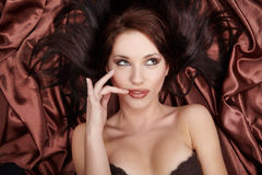 Portrait of a glamour sexy women Stock Images