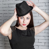 Fashion portrait young beautiful woman Stock Image
