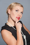 Portrait of glamour woman Royalty Free Stock Image