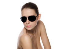 Portrait of glamour woman in sunglasses. Stock Photography