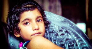 Portrait of glamourous girl child. Portrait of glamourous indian asian girl child Royalty Free Stock Images
