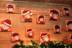 Portrait of gnomes  gnomes dwarf leprechaun decorations for Christmas Royalty Free Stock Images