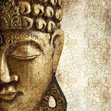 Portrait of golden buddha Stock Photos