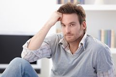 Portrait of goodlooking young man Royalty Free Stock Photos