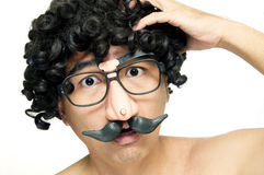 Funny man looking confused Royalty Free Stock Photos