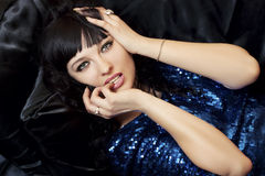 Portrait of gorgeous brunette Stock Images