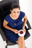 Businesswoman tea break Royalty Free Stock Image