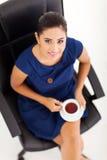 Businesswoman tea break Royalty Free Stock Image