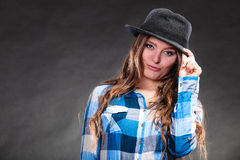 Portrait of gorgeous country woman girl. Fashion. Stock Photography