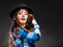 Portrait of gorgeous country woman girl. Fashion. Stock Photos