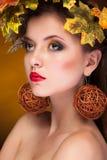 Portrait of gorgeous model fashion autumn concept Royalty Free Stock Image