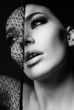 Portrait of gorgeous sensual woman with dark hair Royalty Free Stock Photos