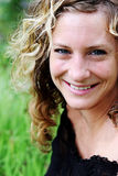 Portrait of a gorgeous woman at the park Stock Photos