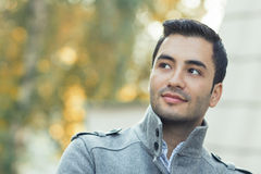 Portrait of gorgeous young attractive man Stock Photos