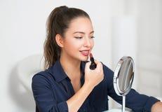 Gorgeous brunette makeup girl. Stock Photos