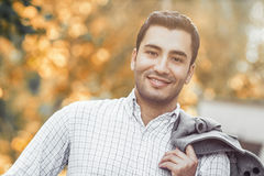 Portrait of gorgeous young smile man Stock Photo
