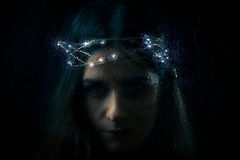 Portrait gothique de femme Photos libres de droits