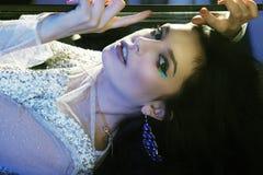 Portrait gothique de la belle femme Photo libre de droits