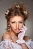 Portrait of graceful woman Stock Photography