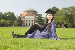Portrait of a graduate royalty free stock image