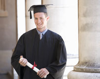 Portrait of a graduate Stock Photo