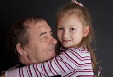 Portrait with the grand daughter Royalty Free Stock Image