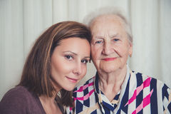 Portrait of granddaughter and grandmother Stock Photo