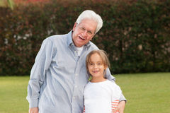 Happy Grandfather And Daughter Royalty Free Stock Photos
